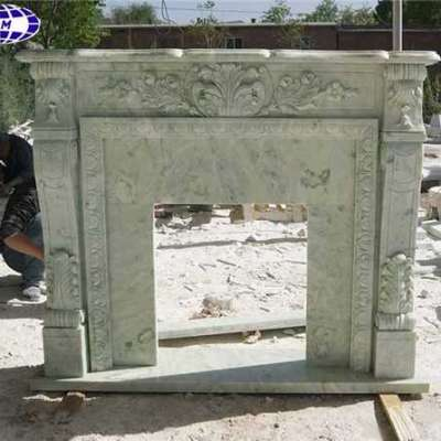 Chinese Mongolian Green Marble Fireplace Mantel Surround Profile Picture